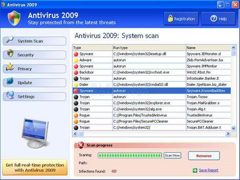 Ложный антивирус Antivirus 2009