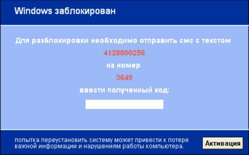 СМС вирус